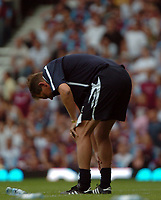 Photo: Tony Oudot. <br /> West Ham United v Manchester City. Barclays Premiership. 11/08/2007. <br /> West Ham manager Alan Curbishley is dejected as he sees his side lose two nil at home