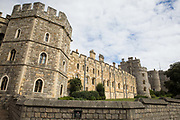 A section of the Henry VIII Gateway and adjoining wall at Windsor Castle are pictured on 23rd August 2020 in Windsor, United Kingdom. The Sunday Times has reported that the Queen will make Windsor Castle her main home for the rest of the year following her summer break at Balmoral rather than returning to Buckingham Palace because her household arrangements at Windsor Castle are believed to offer the greatest protection from COVID-19.