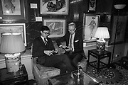 JONATHAN BROOK; MARTIN BRUDNIZKI, Pedro Girao of Christies and Duncan Macintyre of Lombard Odier host the last dinner at the Old Annabels. 44 Berkeley Sq. London. 15 November 2018