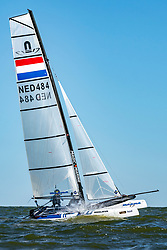 NED484 in action by the Open Dutch Sailing Championships on September 18, 2020 in Medemblik, Netherlands
