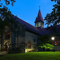 Wellesley College, featuring the Houghton Chapel and Multifaith Center on a stunningly beautiful night at twilight. Wellesley College is a private, women's, liberal-arts college located in the town of Wellesley, Massachusetts and it is ranked the third best liberal arts college in the United States. Notable alumnae include Hillary Clinton, Madeleine Albright, Soong Mei-ling, Cokie Roberts, and Diane Sawyer. It's most famous student is Hillary Rodham Clinton, Class of 1969. Hillary Rodham Clinton is currently running for president of the United States aiming to make history and becoming the first female US president. <br /> <br /> William S. Houghton Memorial Chapel at Wellesley College photography images are available as museum quality photography prints, canvas prints, acrylic prints or metal prints. Prints may be framed and matted to the individual liking and room decor needs:<br /> <br /> https://juergen-roth.pixels.com/featured/houghton-chapel-and-multifaith-center-juergen-roth.html<br /> <br /> Good light and happy photo making! <br /> <br /> My best, <br /> <br /> Juergen <br /> Image Licensing: http://www.RothGalleries.com <br /> Fine Art Prints: http://fineartamerica.com/profiles/juergen-roth.html <br /> Photo Blog: http://whereintheworldisjuergen.blogspot.com <br /> Twitter: https://twitter.com/naturefineart <br /> Facebook: https://www.facebook.com/naturefineart <br /> Instagram: https://www.instagram.com/rothgalleries
