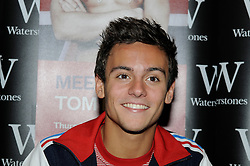 © Licensed to London News Pictures. 16/08/2012.Olympic bronze medal winner, Olympic diver 18 year old Tom Daley signing copies of his new book at Waterstones book store at Bluewater shopping complex in Kent.Photo credit : Grant Falvey/LNP