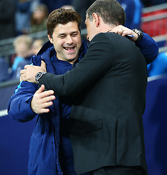 October 25, 2017 - London, England, United Kingdom - Tottenham Hotspur manager Mauricio Pochettino .during Carabao Cup 4th Round match between Tottenham Hotspur and West Ham United at Wembley Stadium, London,  England on 25 Oct  2017. (Credit Image: © Kieran Galvin/NurPhoto via ZUMA Press)