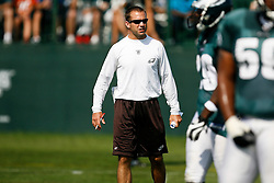 Philadelphia Eagles Linebacker Coach Bill Shuey during the Philadelphia Eagles NFL training camp in Bethlehem, Pennsylvania at Lehigh University on Saturday August 8th 2009. (Photo by Brian Garfinkel)