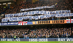 Tributes made by the Chelsea fans to the late Ray Wilkins during the Premier League match at Stamford Bridge, London.