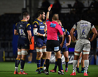 Rugby Union - 2019 / 2020 Gallagher Premiership - Worcester Warriors vs Bristol Bears<br /> <br /> Worcester Warriors' Andrew Kitchener is shown a red card by Referee Wayne Barnes, at Sixways.<br /> <br /> COLORSPORT/ASHLEY WESTERN