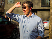 """06 APRIL 2019 - DES MOINES, IOWA:  BETO O'ROURKE at a campaign event in Des Moines. O'Rourke held a series of """"house parties"""" in Des Moines Saturday as a part of his 2020 campaign to be the Democratic nominee for the US Presidential election. He is crisscrossing Iowa through the weekend with stops throughout the state. Iowa holds its caucuses, considered the kickoff of the US Presidential campaign, on Feb. 3, 2020.      PHOTO BY JACK KURTZ"""