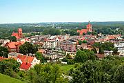 Golub Dobrzyń, 2011-07-10. Panorama miasta ze wzgórza zamkowego