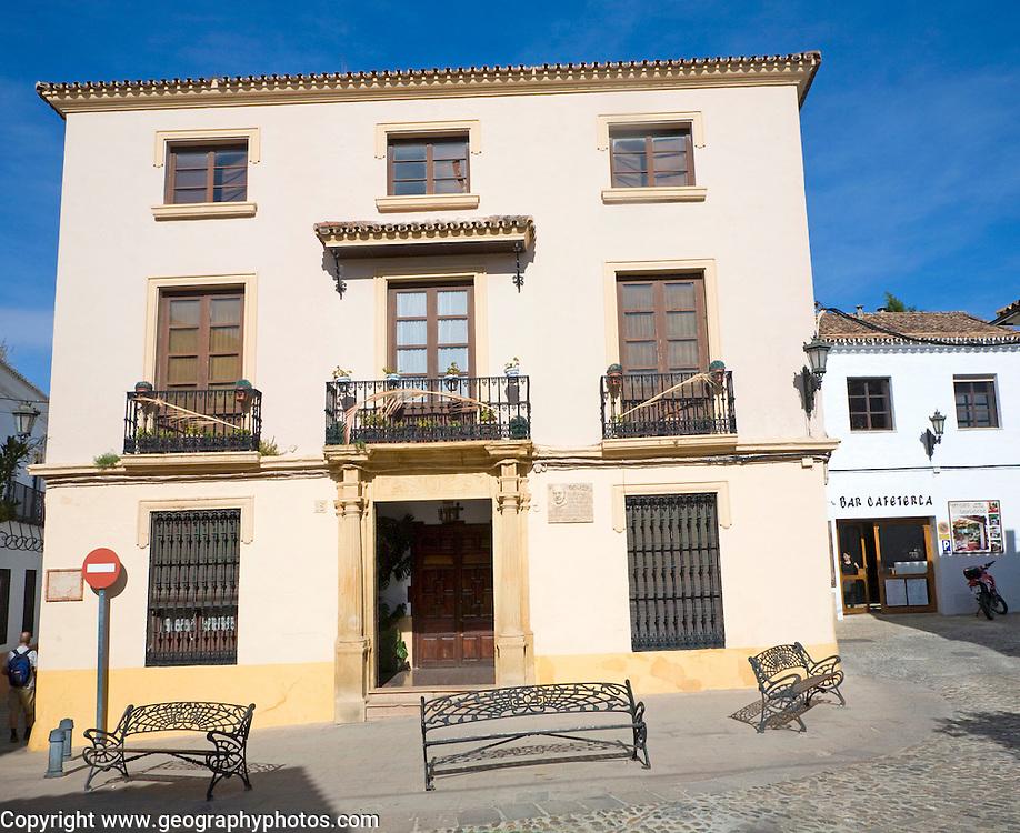 Historic Moorish buildings in old city, La Ciudad, Ronda, Spain