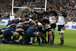 New-Zealand's Pack during a rugby friendly Test match, France vs New-Zealand in Stade de France, St-Denis, France, on November 11th, 2017. France New-Zealand won 38-18. Photo by Henri Szwarc/ABACAPRESS.COM