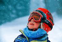 Young skier,  Winter Park Resort, Colorado USA