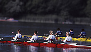 Barcelona, SPAIN.  GER W4X Gold Medalist, ..Kerstin MUELLER, Kristina MUNDT - RICHTER, Birgit PETER, Sybille SCHMIDT. 1992 Olympic Rowing Regatta Lake Banyoles, Catalonia [Mandatory Credit Peter Spurrier/ Intersport Images]