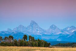 Sunset, Grand Tetons, Teton Valley, Idaho