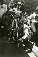 1977 C3PO's hand/footprint ceremony at the Chinese Theater