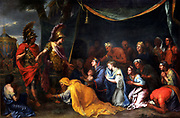 The Queens of Persia at the Feet of Alexander also called 'The Tent of Darius'. Oil on canvas. By Charles Le Brun circa 1660.