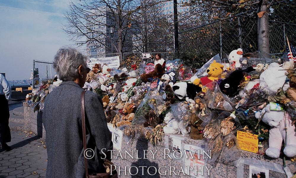 World Trade Center 911 Memorial in 2001