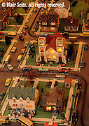 Roadside America Miniature Train Village, Mini-village resident scene,Shartlesville, Berks Co., PA
