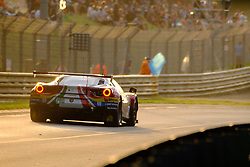 June 17, 2018 - Le Mans, Sarthe, France - AF Corse FERRARI 488 GTE EVO Driver JAMES CALADO (GBR) in action during the 86th edition of the 24 hours of Le Mans 2nd round of the FIA World Endurance Championship at the Sarthe circuit at Le Mans - France (Credit Image: © Pierre Stevenin via ZUMA Wire)