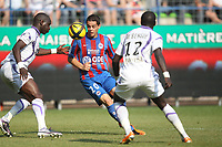 FOOTBALL - FRENCH CHAMPIONSHIP 2010/2011 - L1 - SM CAEN v TOULOUSE FC - 24/04/2011 - PHOTO ERIC BRETAGNON / DPPI - HAMOUMA (CAEN)