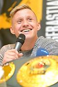 IBO-Weltmeister Sebastian Formella <br /> Pressekonferenz vor Box-Gala von SES- und ES Boxing, Block-Braeu an den Landungsbruecken,<br /> 14. Januar 2020, Hamburg, Germany,<br /> © MSSP - MICHAEL SCHWARTZ SPORTPHOTO, <br /> 22605 Hamburg,  Tel: 0171-6460044, www.mssp.biz  -  www.schwartz-photo.de<br /> Honorar o. Abzug + 7% MwSt. -<br /> IBAN: DE83 2004 0000 0409 9909 00, BIC/SWIFT-Code: COBADEFF, zuvor: Commerzbank, Kto: 409990900, BLZ: 20040000,  Steuer-ID. DE225222405, FA Hamburg-Am Tierpark
