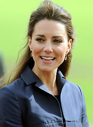 Kate Middleton at Witton Country Park in Blackburn, Lancashire this afternoon, where she and Prince William are undertaking their last joint official engagement before their wedding.