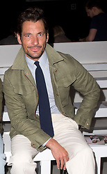 David Gandy on the front row during the catwalk for the Daniel W. Fletcher show during London Fashion Week Men's SS19 show held at the BFC Show Space, London.