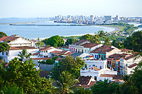 street aerial view of olinda with  recife in the background Pernambuco state brazil