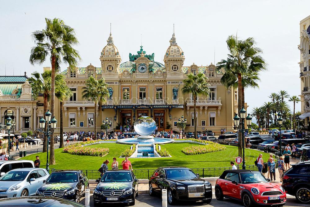View of the Monte Carlo Casino and Sky Mirror, Monaco, France.