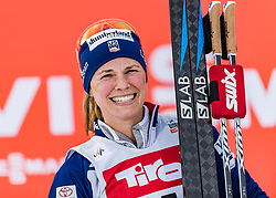28.01.2018, Seefeld, AUT, FIS Weltcup Langlauf, Seefeld, FIS Weltcup Langlauf, 10 km Sprint, Damen, Siegerehrung, im Bild Jessica Diggins (USA) // Jessica Diggins of the USA during winner ceremony of ladie's 10 km sprint of the FIS cross country world cup in Seefeld, Austria on 2018/01/28. EXPA Pictures © 2018, PhotoCredit: EXPA/ Stefan Adelsberger