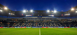 17.02.2016, Ghelamco Arena, Gent, BEL, UEFA CL, KAA Gent and VfL Wolfsburg, Achtelfinale, Hinspiel, im Bild Innenraum der Ghelamco Arena // during the UEFA Champions League Round of 16, 1st Leg match between KAA Gent and VfL Wolfsburg at the Ghelamco Arena in Gent, Belgium on 2016/02/17. EXPA Pictures © 2016, PhotoCredit: EXPA/ Eibner-Pressefoto/ Schueler<br /> <br /> *****ATTENTION - OUT of GER*****