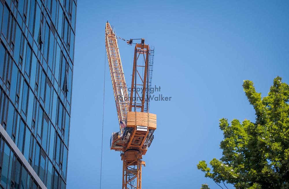 2018 JUNE 19 - Construction crane, Howell St., Seattle, WA, USA. By Richard Walker