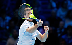 Jack Sock during his match against Marin Cilic during day three of the NITTO ATP World Tour Finals at the O2 Arena, London.