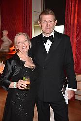 Deborah Meaden and Paul Meaden at the Tusk Ball at Kensington Palace, London, England. 09 May 2019.