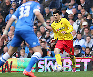 Watford Fernando Forestieri on the ball during the Sky Bet Championship match between Brighton and Hove Albion and Watford at the American Express Community Stadium, Brighton and Hove, England on 25 April 2015. Photo by Phil Duncan.