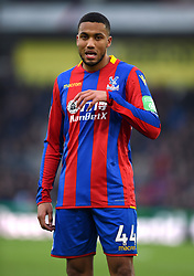 """Crystal Palace's Jairo Riedewald during the Premier League match at Selhurst Park, London. PRESS ASSOCIATION Photo. Picture date: Saturday January 13, 2018. See PA story SOCCER Palace. Photo credit should read: Daniel Hambury/PA Wire. RESTRICTIONS: EDITORIAL USE ONLY No use with unauthorised audio, video, data, fixture lists, club/league logos or """"live"""" services. Online in-match use limited to 75 images, no video emulation. No use in betting, games or single club/league/player publications"""