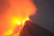 NORTH SULAWESI, INDONESIA - MAY 15: : <br /> <br /> Aftermath Eruption Mount Karangetang Volcano in North Sulawesi<br /> <br /> A view of eruption at Mount Karnagetang volcano seen from Siau island on May 11, 2015 in North Sulawesi, Indonesia. <br /> Nearly a week passed Since the biggest eruption on Thursday 7 May 2015 Karangetang volcano eruptions of hot clouds and lava. make hundreds of residents in the three mountain hamlets around the place safer displaced and hundreds dead livestock and fruit orchards, nutmeg citizens die. The worst impact is felt villagers Korakora.<br /> For residents in the area of Mount Karangetang known as Api Siau has a value of its own mystique. volcano located in the northern part of North Sulawesi, Indonesia precisely in Siau Island Regency Tagulandang Biaro (Sitaro). Mount Karangetang is one of the most active volcanoes in Indonesia with the eruption of more than 40 times since 1675 as well as many small eruptions that are not documented in historical records. in the notes eruption Karangetang occurred in 1997, 2010 and 2011 that killed three people.<br /> ©Fiqman Sunandar/Exclusivepix Media
