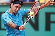 Roland Garros. Paris, France. June 8th 2007..1/2 Finals..Roger FEDERER against Nikolay DAVYDENKO.