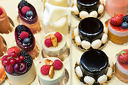 Luxury fruit cakes at Pompadour in Huidenstraat in the Nine Streets shopping district, Amsterdam