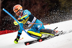 05.03.2017, Podkoren, Kranjska Gora, SLO, FIS Weltcup Ski Alpin, Kranjska Gora, Slalom, Herren, 1. Lauf, im Bild Leif Kristian Haugen (NOR) // Leif Kristian Haugen of Norway in action during his 1st run of men's Slalom of FIS ski alpine world cup at the Podkoren in Kranjska Gora, Slovenia on 2017/03/05. EXPA Pictures © 2017, PhotoCredit: EXPA/ Johann Groder