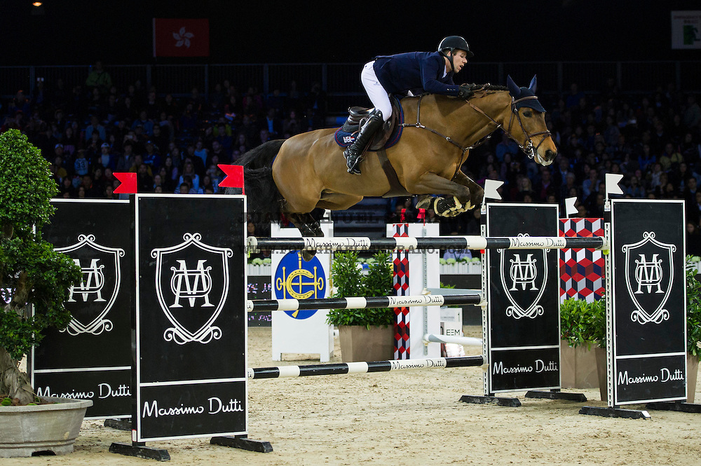 Maikel van der Vleuten on VDL Groep Arera C competes during Longines Grand Prix at the Longines Masters of Hong Kong on 21 February 2016 at the Asia World Expo in Hong Kong, China. Photo by Juan Manuel Serrano / Power Sport Images