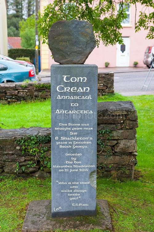 Stone from Grytviken, South George, in Tom Crean Memorial Garden, Annascaul, Dingle Peninsula, Co. Kerry, Ireland