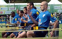 Die Brasilianer trainieren am Gummiseil. © Alexander Wagner/EQ Images