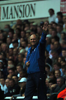 Photo: Tony Oudot.<br /> Tottenham Hotspur v Derby County. The FA Barclays Premiership. 18/08/2007.<br /> Martin Jol the Tottenham manager celebrates with the fans at the end of the game