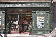 Wine shop. Etablissement Martin. The town. Saint Emilion, Bordeaux, France
