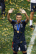Kylian Mbappe of France celebrates after winning the 2018 FIFA World Cup Russia, final football match between France and Croatia on July 15, 2018 at Luzhniki Stadium in Moscow, Russia - Photo Tarso Sarraf / FramePhoto / ProSportsImages / DPPI