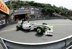 MONTE-CARLO, MONACO - Saturday, May 23, 2009: Jenson Button (GBR Brawn GP) during qualifying for the Monaco Formula One Grand Prix at the Monte-Carlo Circuit. (Pic by Juergen Tap/Hoch Zwei/Propaganda)