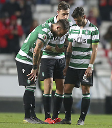 February 7, 2019 - Na - Lisbon, 06/02/2019 - SL Benfica received this evening the Sporting CP in the Stadium of Light, in game the account for the first leg of the Portuguese Cup 2018/19 semi final. Gudelj, Coates and Bruno Fernandes  (Credit Image: © Atlantico Press via ZUMA Wire)