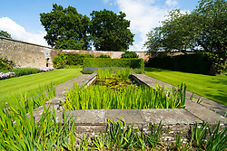 Exterior of garden at Falkland Palace in Falkland, Fife, Scotland, UK