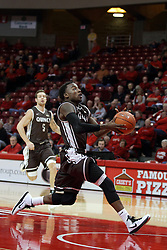 29 December 2014:  Thomas Jackson during an NCAA non-conference interdivisional exhibition game between the Quincy University Hawks and the Illinois State University Redbirds at Redbird Arena in Normal Illinois.