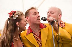 Lil' miss Hayley, Ian Clarkson and Alex Douglas..9 September 2012.Image © Paul David Drabble